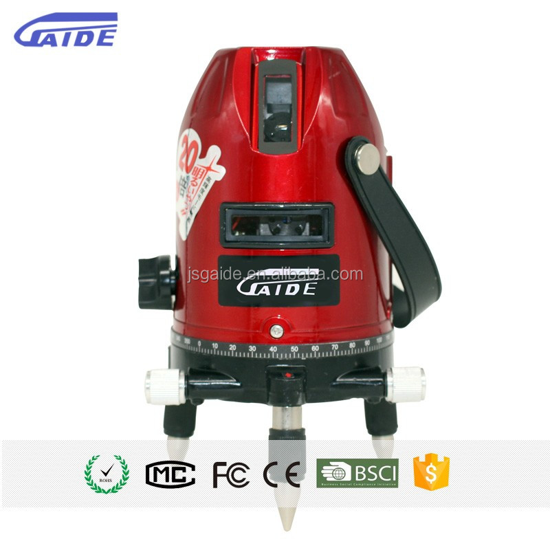 OEM brand factory red beam automatic measuring 4v1h rotating 360 red 6 points auto leveling laser <strong>level</strong> 5 lines