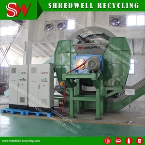 5-7Tons Big Capacity Cost Effective Tire Shredder TS1200 For Scrap Tyre Recycling
