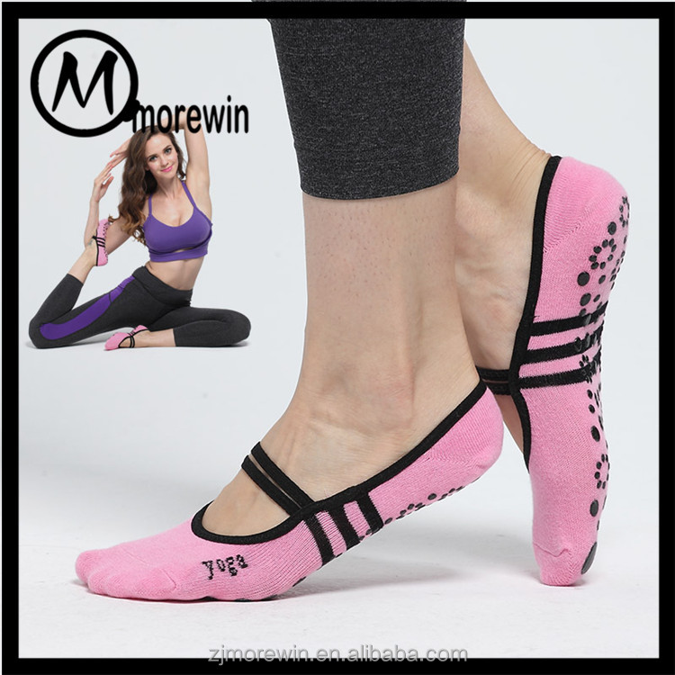 Morewin Brand Women's Non Slip Ballet Grip Socks for Barre Pilates Yoga