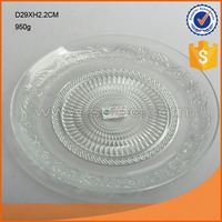 Wholesale transparent glass plate with steaks