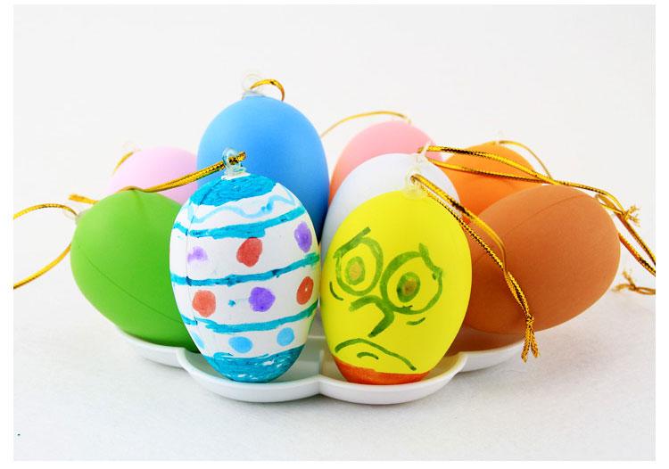 Hayvan Plastik Büyük çizim Boyama Boyama Paskalya Yumurtaları