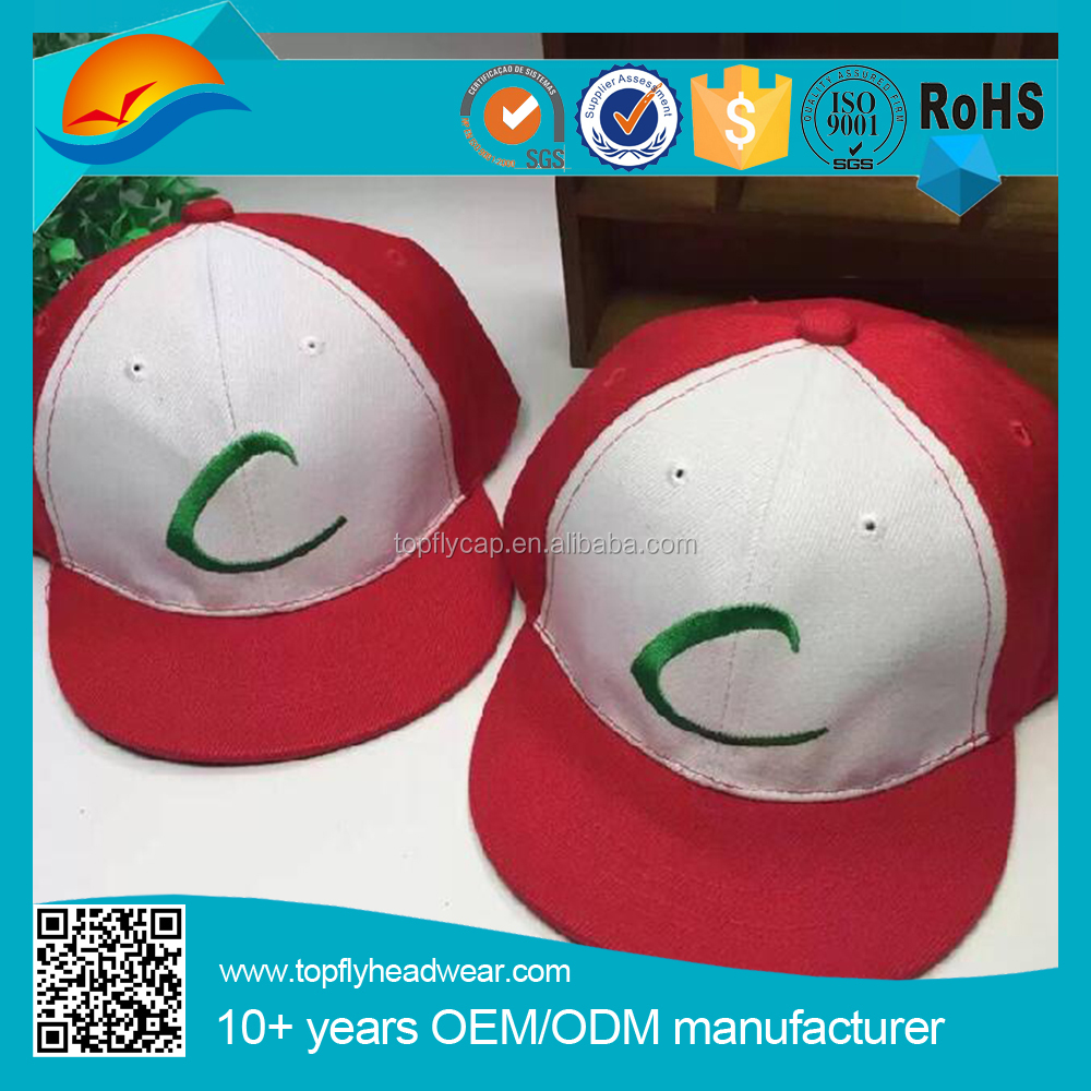 Custom embroidery snapback cap Parent-child pokemon cap