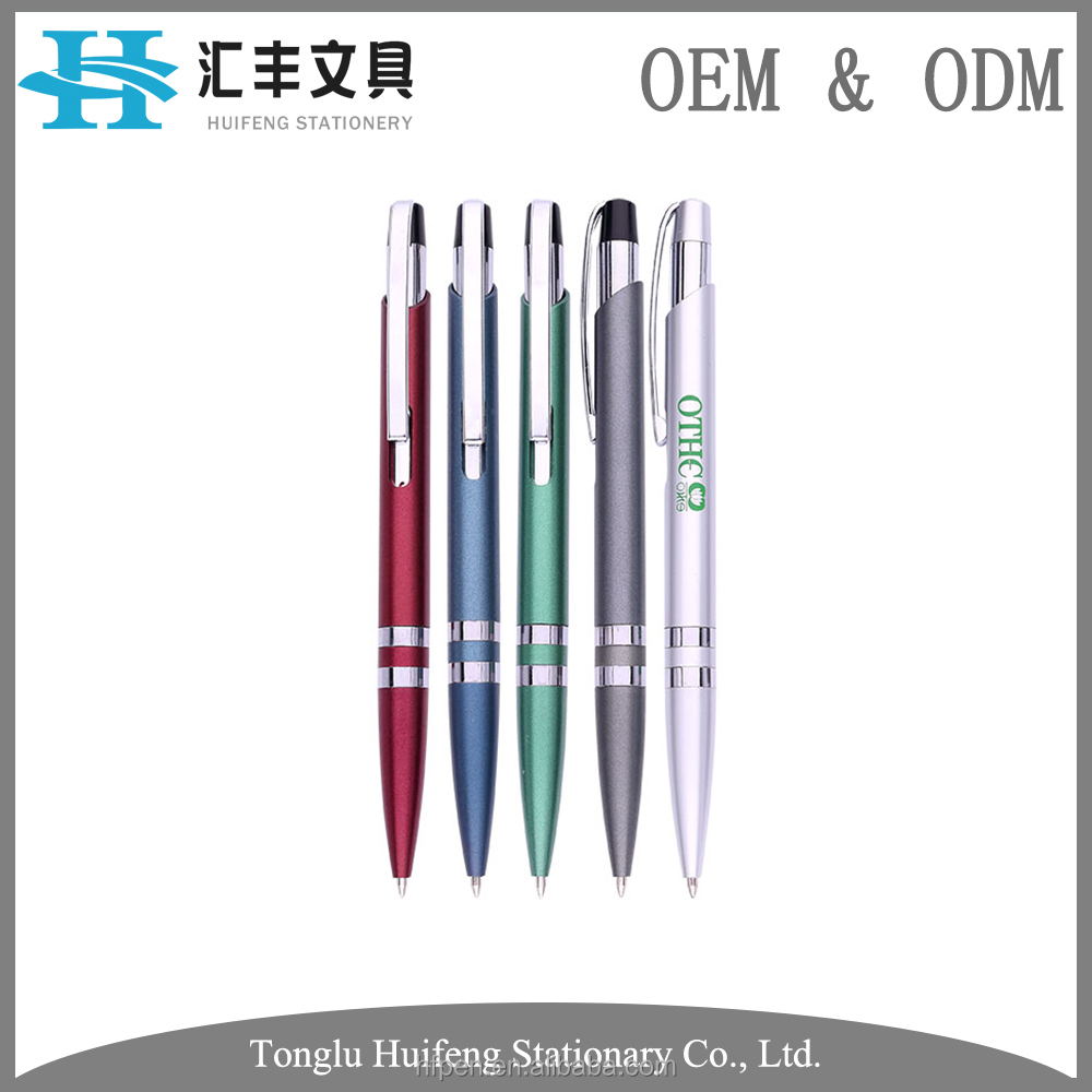 HF5268A new design plastic hilton office ball pen with metal clip