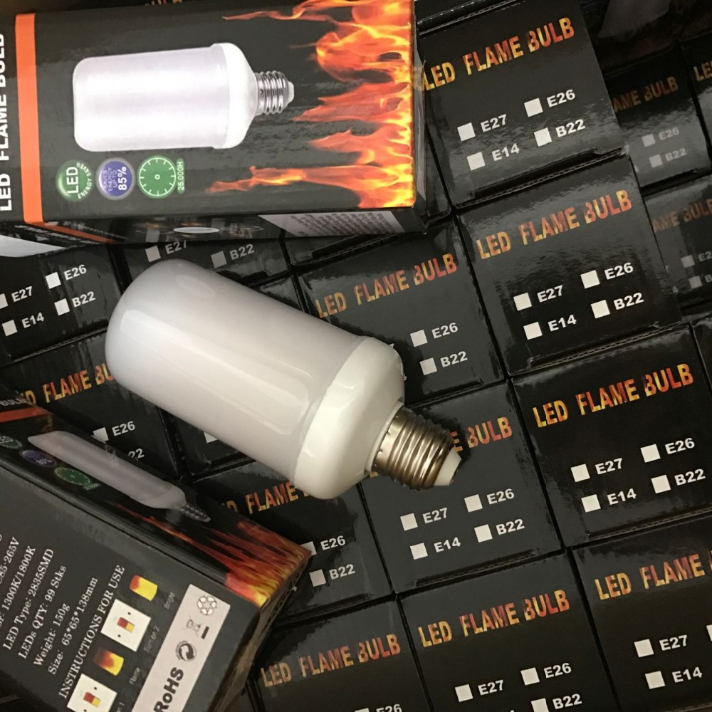 LED Flame Effect Fire Light Bulbs E26 E27 Decorative Light Holiday lighting
