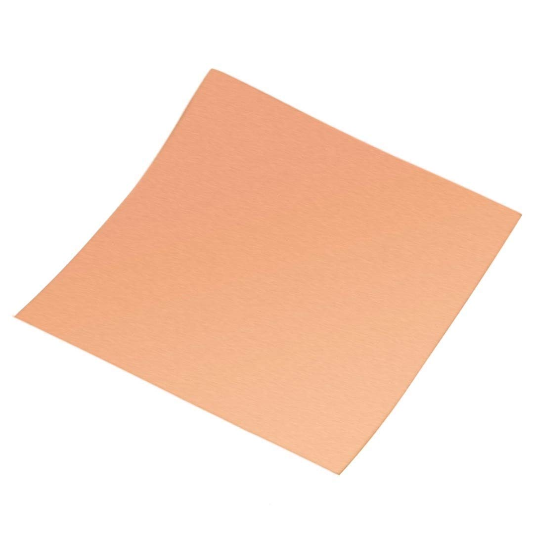 VHLL 1pc 100x100mm Copper Cu Sheet Thin Metal Foil Roll 0.1mm Thickness High Purity For Welding and Brazing NEW PRODUCT
