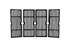 Music City Metals 68744 Gloss Cast Iron Cooking Grid Replacement for Gas Grill Model Charbroil 463250910, Set of 4