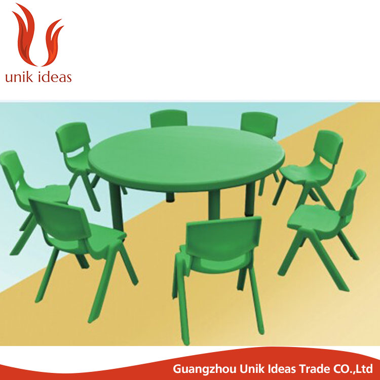 Muebles infantiles de plástico chico mesa de estudio y silla para la ...