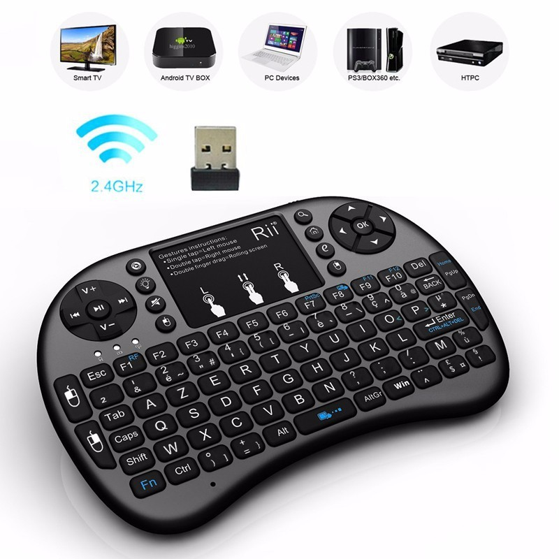 tv keyboard. wireless rii mini backlit french keyboard for android tv and samsung smart tv