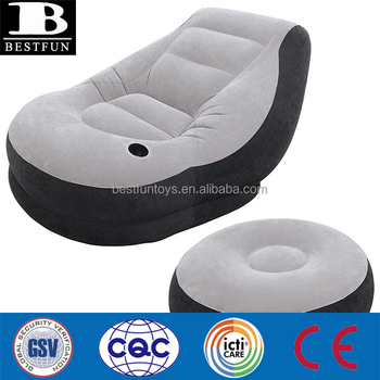 Miraculous High Quality Flocked Plastic Inflatable Lounge Chair With Ottoman Folding Lazy Sofa Chair Portable Versatile Furniture Buy Inflatable Lounge Alphanode Cool Chair Designs And Ideas Alphanodeonline
