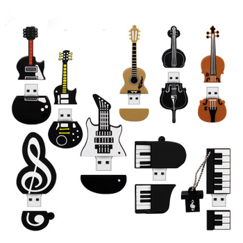 Factory Wholesale Guitar Music Piano Customized USB Memory Stick All Capacity 8GB 16GB 32GB Flash Drive With Logo