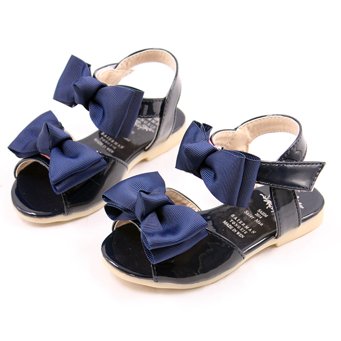 Hot New High Quality Baby Girl Sandals Summer Kids sandals children shoes girls Sandalia Infantil Blue Rubber Velcro PU kll003