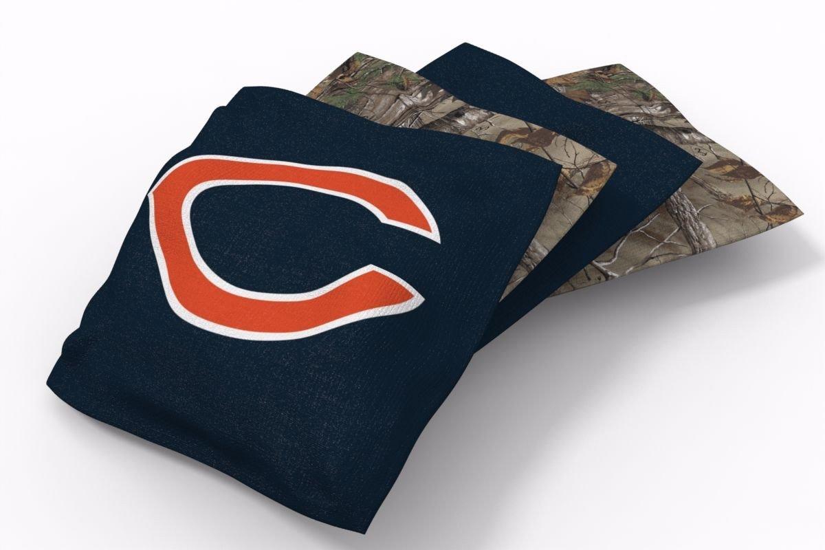 Chicago Bears RealTree Camo Bean Bags-4pk (A)