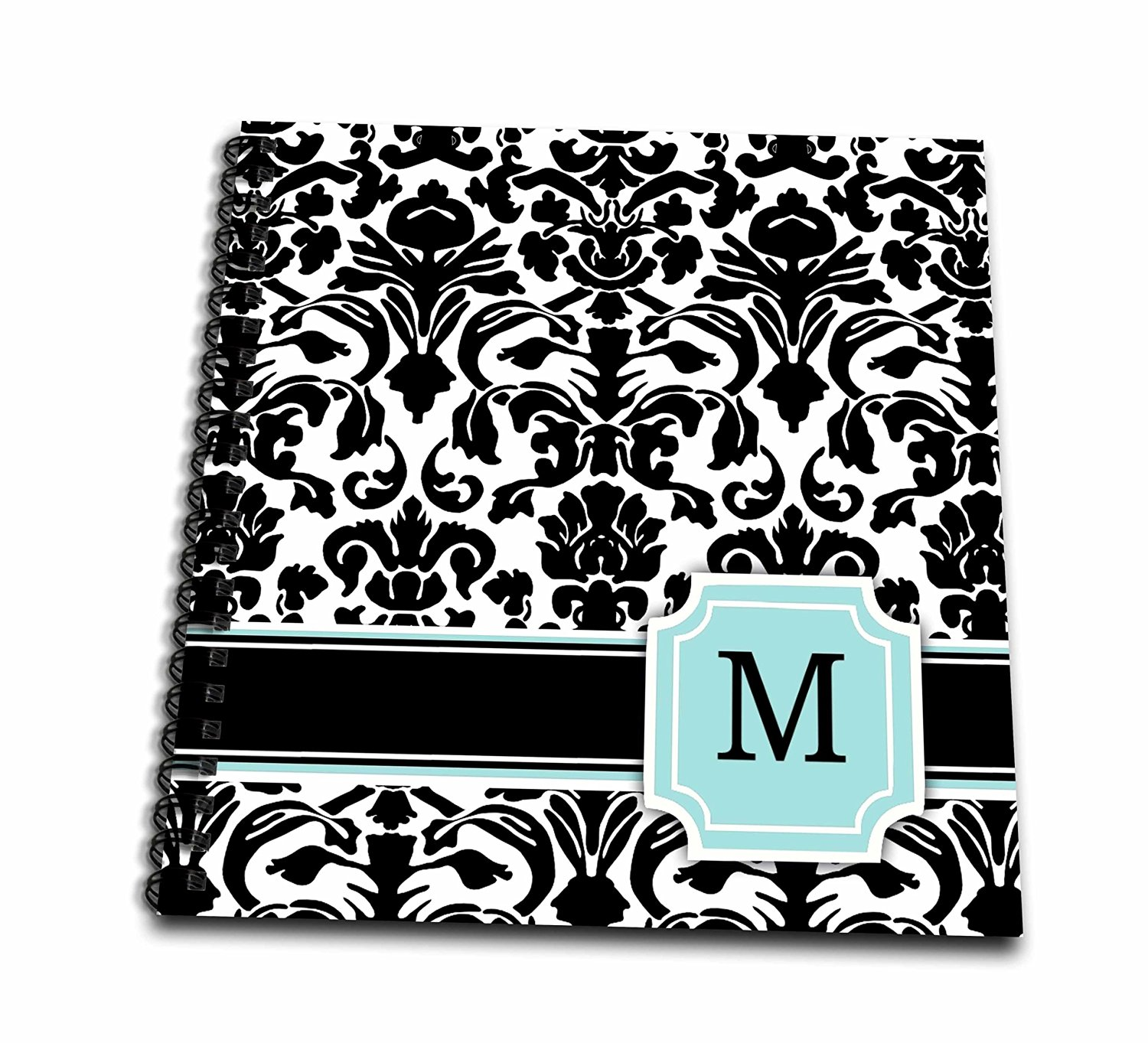 mp/_154542/_1 3dRose Personalized Letter B Aqua Blue Quatrefoil Pattern Teal Turquoise Mint Monogrammed Personal Initial Mouse Pad