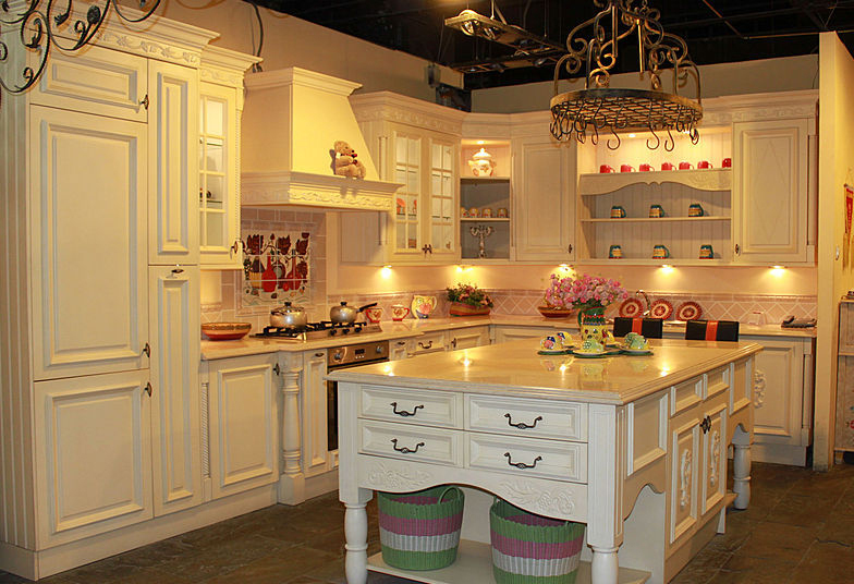 Classic Style Kitchen Cabinet With Granite Center Island Ready Made Kitchen Cabinets Buy Ready
