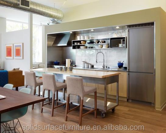 Veelzijdige custom moderne franse marmeren keuken eiland keuken ...
