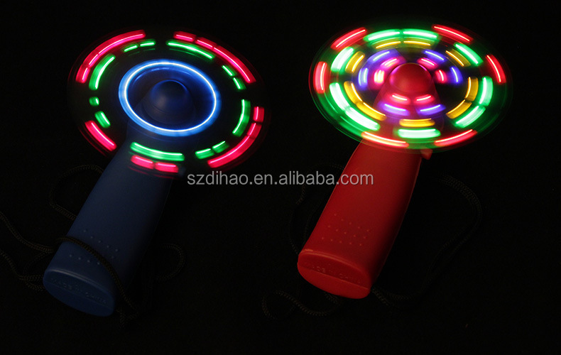 DIHAO Fantastic Mini LED Night Light Fan w/ Changing Patterns , usb mini fan Factory Wholesale Price Stock Available