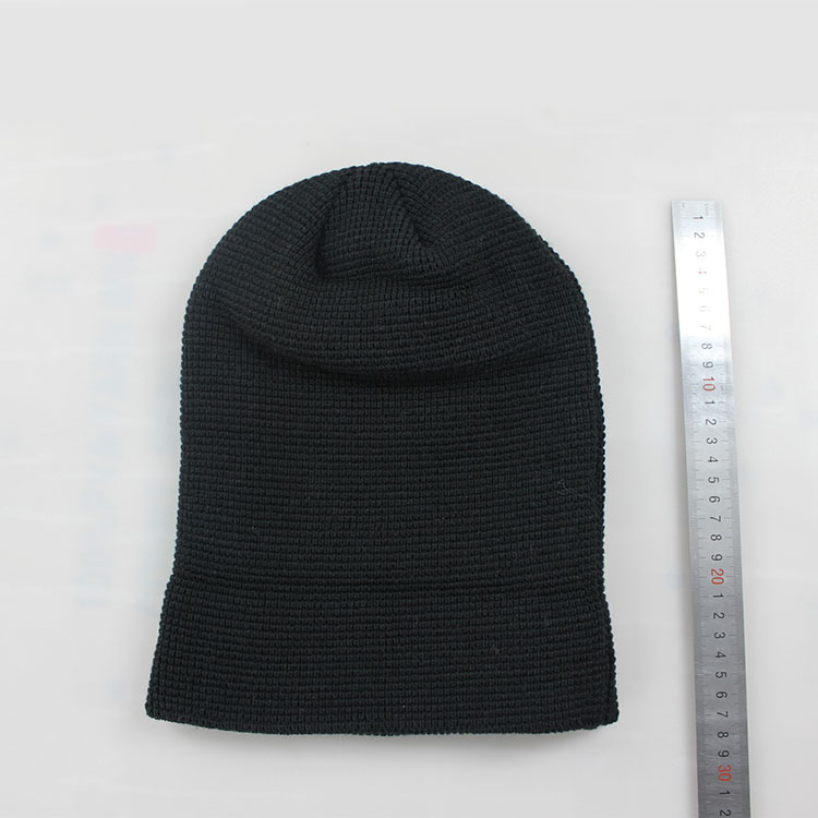 644bfc8b035 winter beanies with faster shipment 100% acrylic cheap leather badge beanie  hat