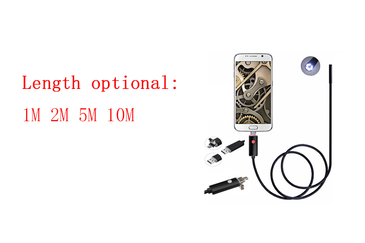Endoscope 5.5MM Lens USB Endoscope HD Car Inspection Snake Tube 2IN1 USB Borescope 10M Waterproof Android Micro Endoscope Camera