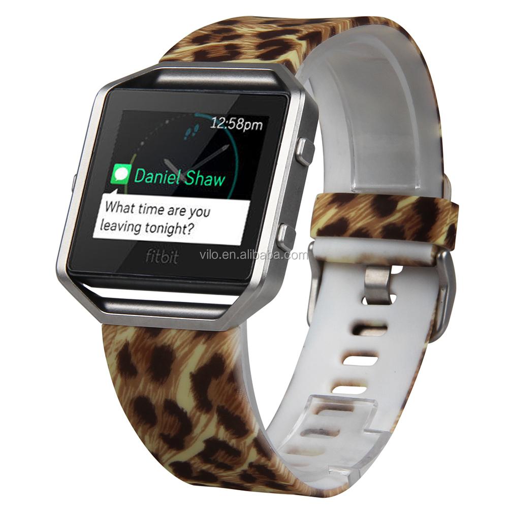 Personalizado banda de reloj correa de silicona para Fitbit Blaze ...