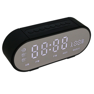 Gadgets 2018 LED Alarm Clock Wireless Speaker With High Quality Stereo Sound FM Radio Speakers