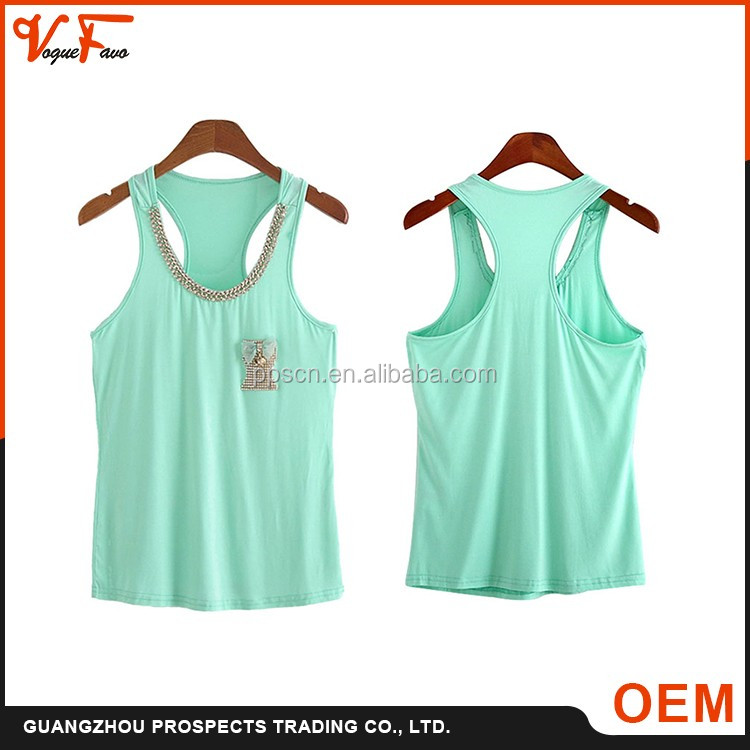 2016 new design wholesale sexy tank top, women tank tops with printing