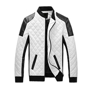 Mens Black White Winther Leather Jaquetas Jackets