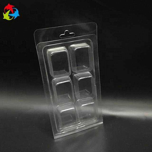 Custom Clear Plastic Blister Wax Melt Clamshell Verpakking