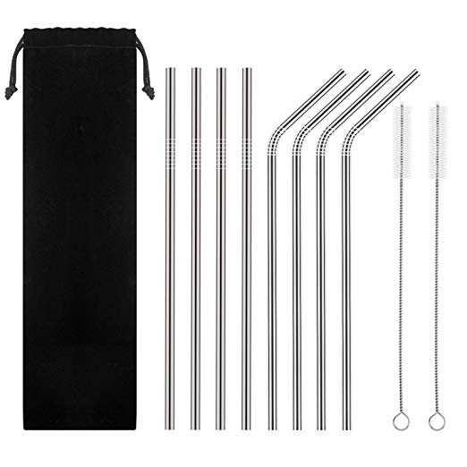 Food Grade Approved Stainless Steel Straws reusable metal drinking straws