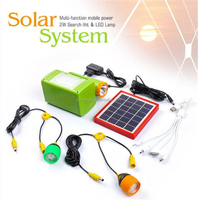 Portable Mobile charger 6V solar lighting system solar panel kit for Home Outdoor Camping Tent