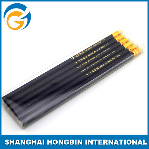 Colorful Logo Printing Cheap HB Wood Pencil with Eraser