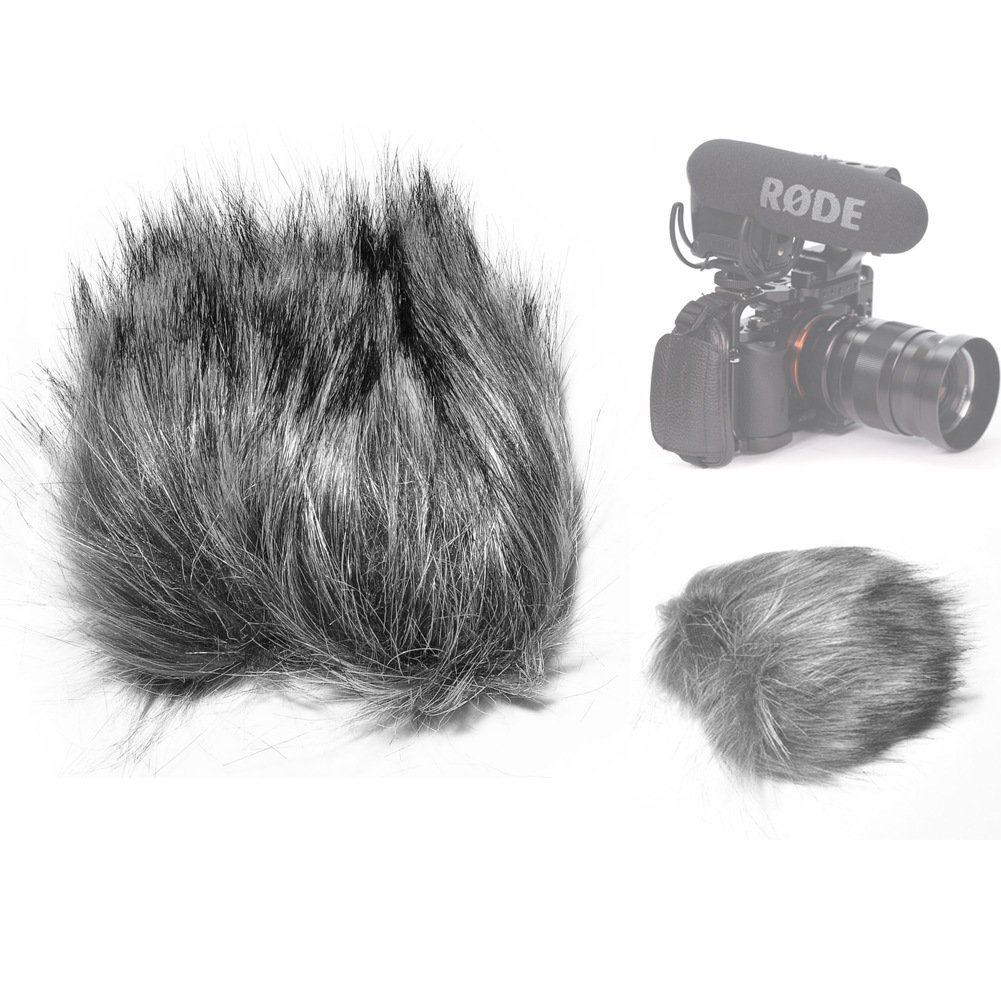 Fomito EN-22 Furry Mic Microphone Windscreen Wind Cover for Rode Videomic Pro VMP Microphone