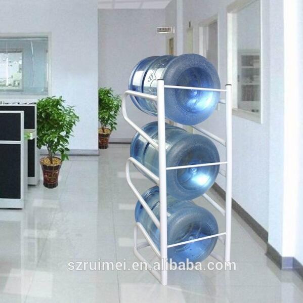Water Bottle Storage: 3-level Metal Storage Rack 5 Gallon Water Bottle Rack