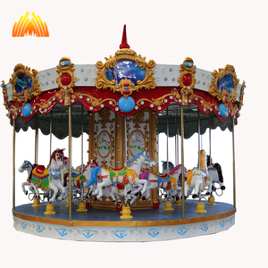 Attractive Carousel Amusement Park Rides Kids Carousel horses for sale