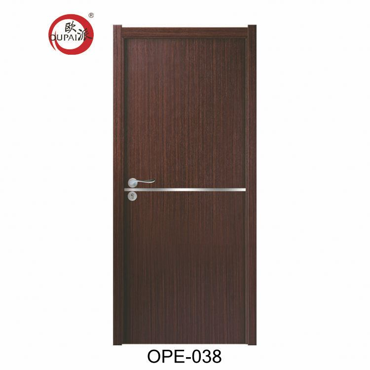 China Modern Style Cheap Interior Doors Plain Color Wooden Single