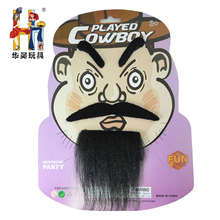 Top sale fashion fake mustache cowboy eyebrow and mustache