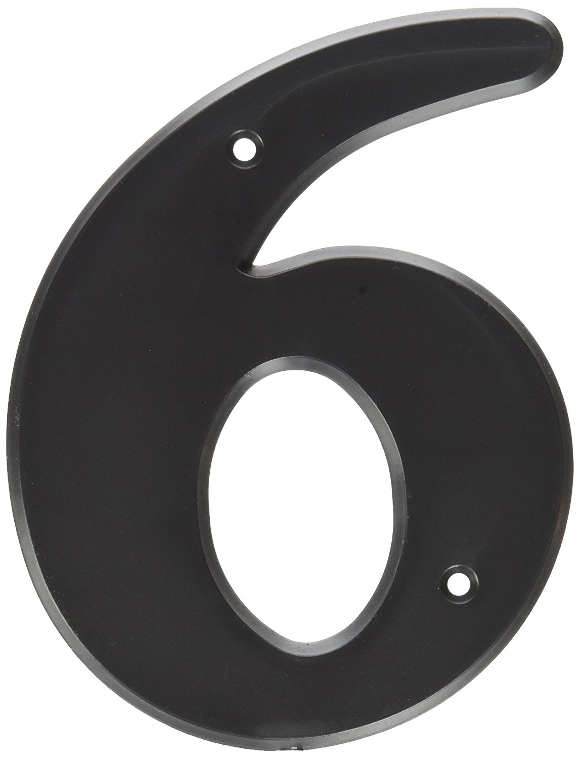 """Hy-Ko Products 30206 Plastic House Number 6 (SIX) 6"""" High, Black, 1 Piece"""