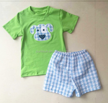 88ed2006 Wholesale toddler boy boutique outfits kids cotton t shirt and shorts sets children  boys summer clothes