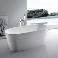 BS-8602 Good Quality Resin Stone bathroom Bath Tubs Solid Surface Tub,Oval bubble Modern Design Whirlpool