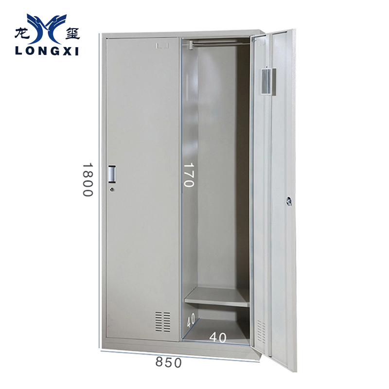 Modern two-door clothes cabinet,storage cabinets metal locker 2door