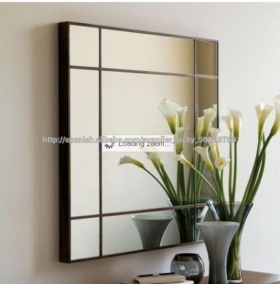 Sin marco biselado espejo de cuarto de ba o de vidrio for Precio espejo a medida sin marco
