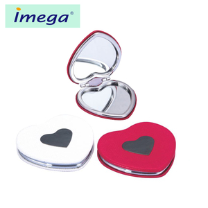 Wholesale costom cheap price round plastic metal make-up compact makeup pocket vanity cosmetic mirror