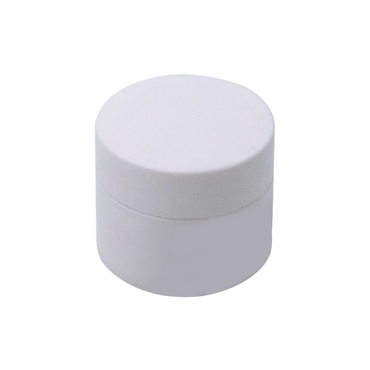 30g 50g 100g white cylinder shaped plastic face cream jar with white lid