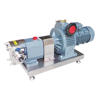 sanitary food grade stainless steel 304 316L high viscous fluid transfer rotary lobe pump