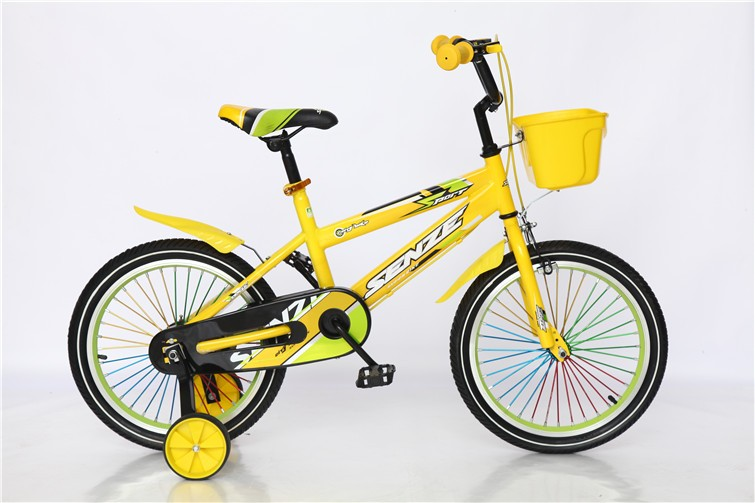 children bike with steel frame and fork
