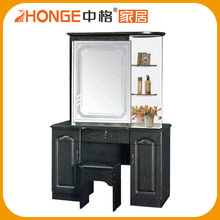 Modern Style Dresser Table Black Dresser With Stool On Sale