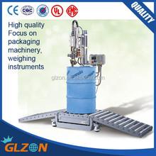 GFM-200 216L drum filling line, oil drum weighing filling machine, lubricant drum filler