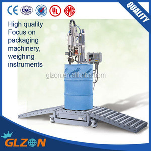 GFM-200 216L drum filling line, oil drum weighing filling machine, lubricant drum filler