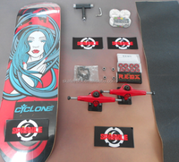 "8.0"" Complete Skateboard with Grip tape Custom Graphic"