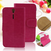 pu leather pc cover flip case for sony xperia s lt26i with card holder