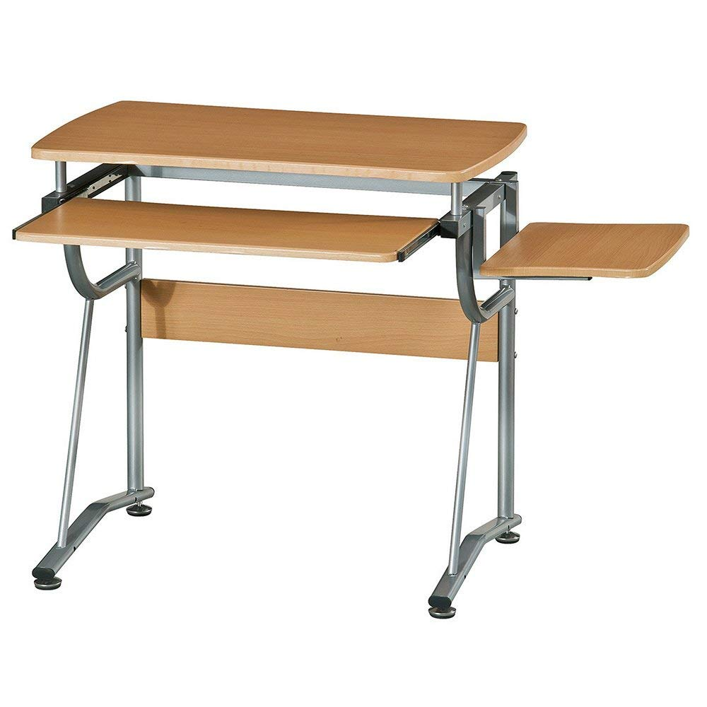 Svitlife Ergonomic Compact Computer Desk Workstation Stand Pc Shaped Corner Study Wood X Up Adjustable